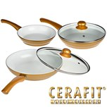 CERAFIT GOLD - Poêles ceramique Set de 5pcs